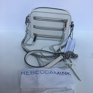 Four-zip Moto Camara Optic White Leather